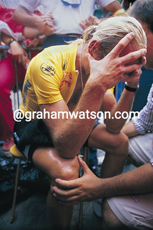 LAURENT FIGNON AT THE END OF THE 1989 TOUR DE FRANCE