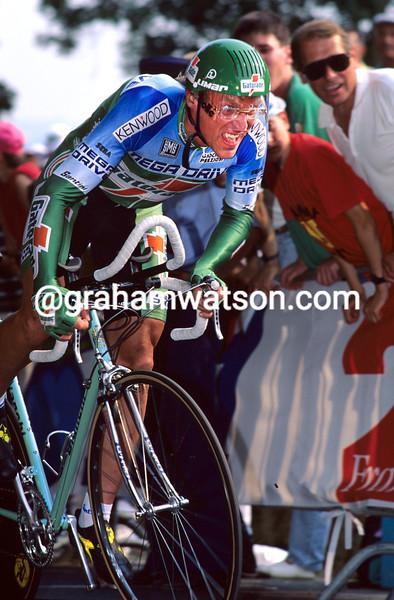 Laurent Fignon in the 1993 Tour de France Prologue