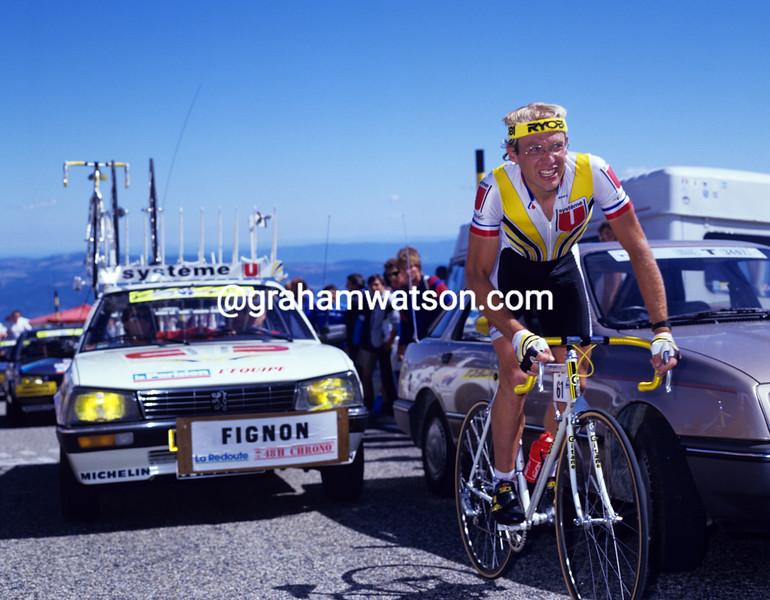 Laurent Fignon on Mont Ventoux in the 1987 Tour de France