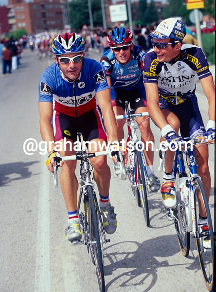 Laurent Jalabert with Virenque and Lance Armstrong in the 1998 Vuelta a Espana