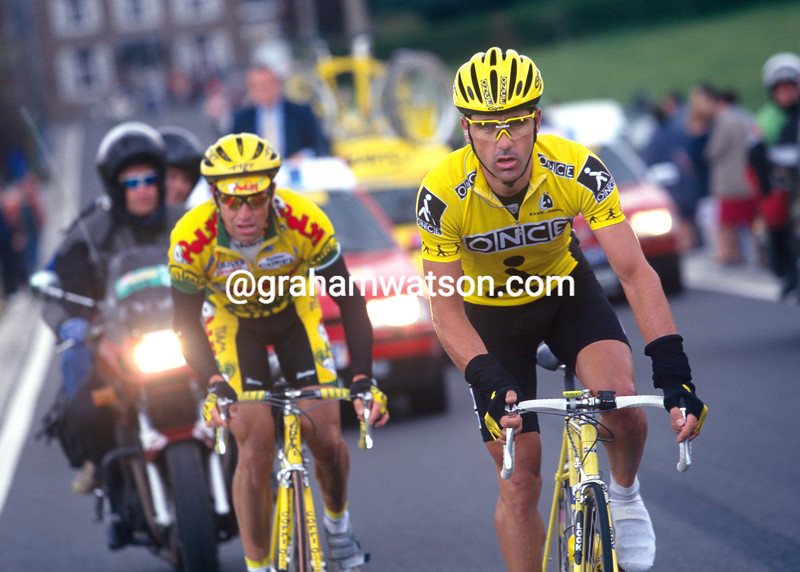 Laurent Jalabert and Luc Leblanc in the 1997 Fleche Wallonne