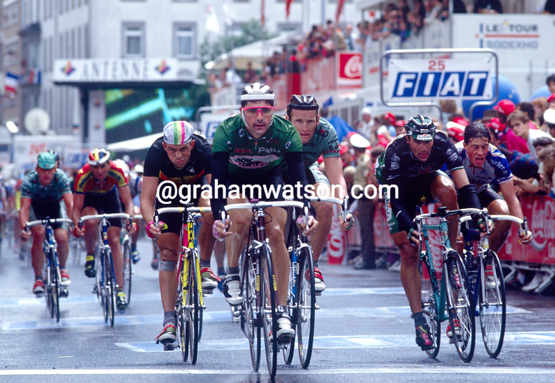 Laurent Jalabert wins a stage in the 1992 Tour de France