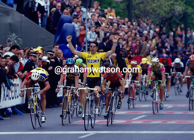 Laurent Jalabert wins a stage of the 1994 Vuelta a Espana