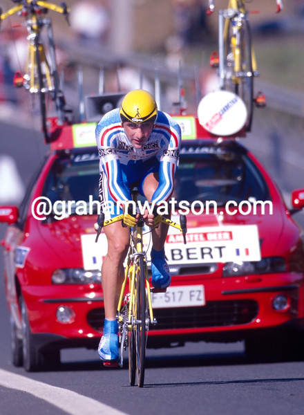 Laurent Jalabert wins  the TT at the 1997 World Championships