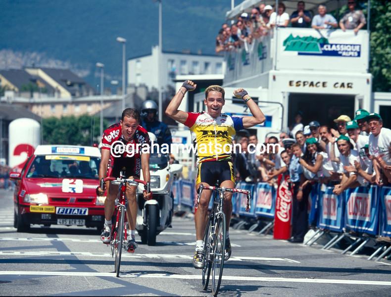 Laurent Roux in the 1997 Classique des Alpes