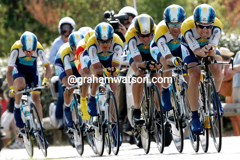 THE ASTANA TEAM WINS STAGE FOUR OF THE 2009 TOUR DE FRANCE