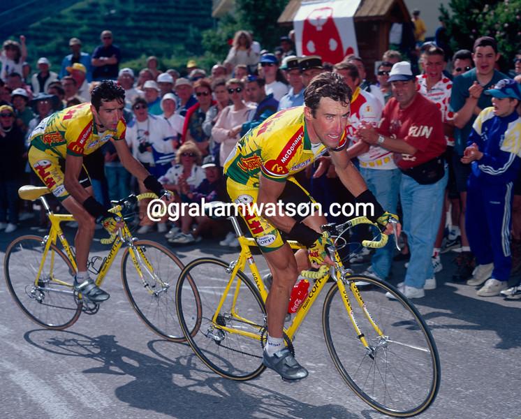 Luc Leblanc in the 1997 Tour de France
