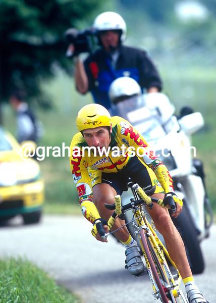 Luc Leblanc in the 1996 Giro d'Italia
