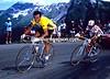 BERNARD HINAULT LEADS LUCHO HERRERA TO AVORIAZ IN THE 1985 TOUR DE FRANCE