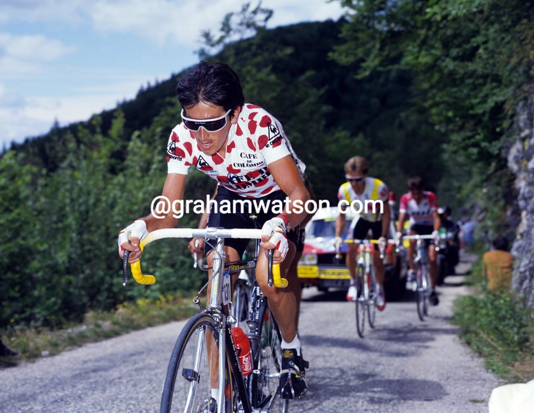 LUIS HERRERO IN THE 1987 TOUR DE FRANCE