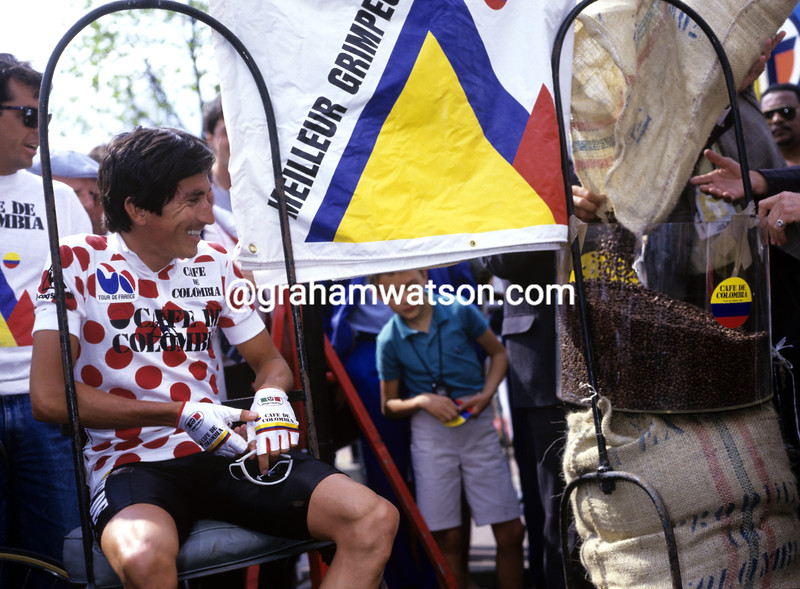 Luis Herrera in the 1986 Tour de France