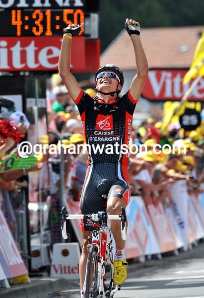 LUIS LEON SANCHEZ WINS STAGE EIGHT OF THE 2009 TOUR DE FRANCE
