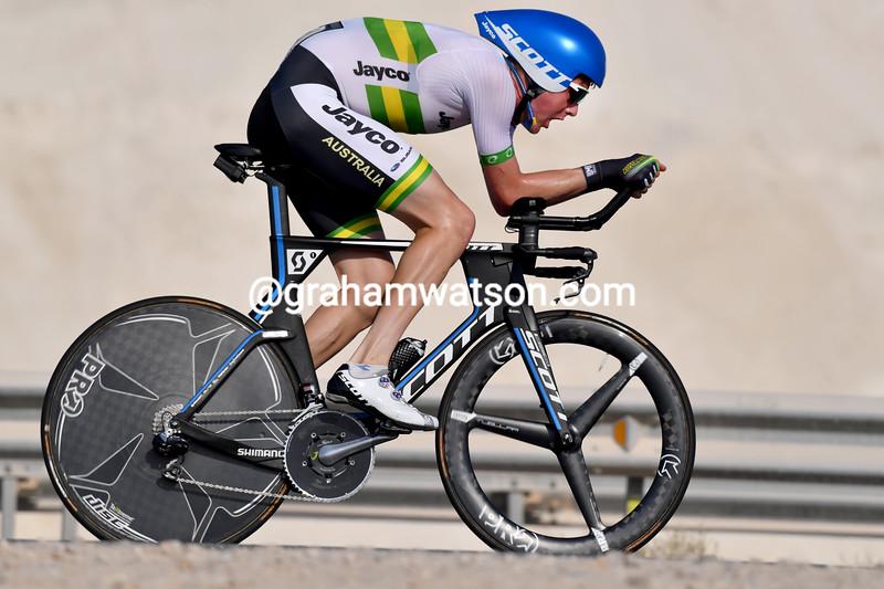 Luke Durbridge in the 2016 elite mens TT