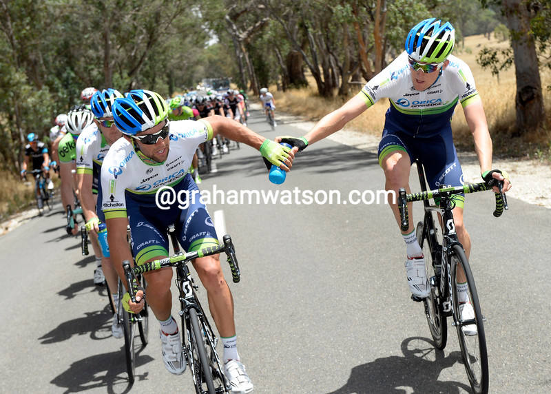 Only Luke Durbrudge has the power to pedal to the front with fresh water for Michael Matthews