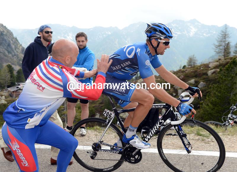 Luke Roberts on stage nineteen of the 2012 Giro d'Italia