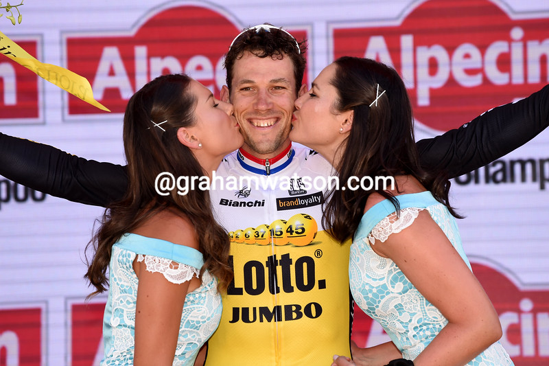 Maarten Tjallingii on stage 6 of the 2016 Tour Down Under