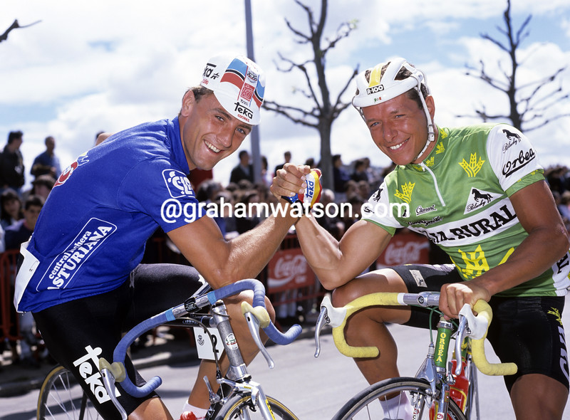 malcolm elliott and mathieu hermans in the 1988 tour of spain