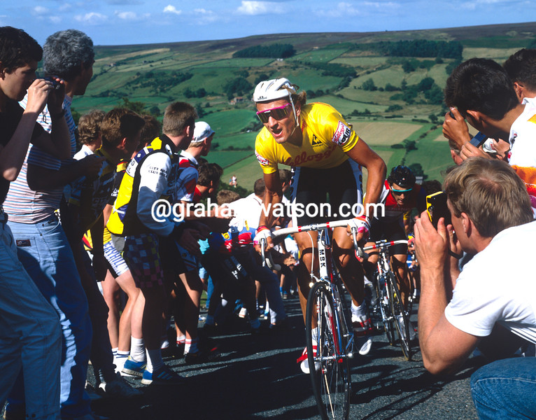 Malcolm Elliott in the 1989 Tour of Britain