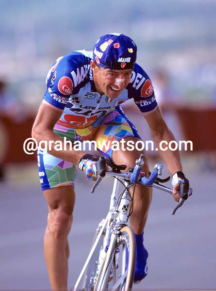 Paolo Lanfranchi on a stage of the 1997 Vuelta a España