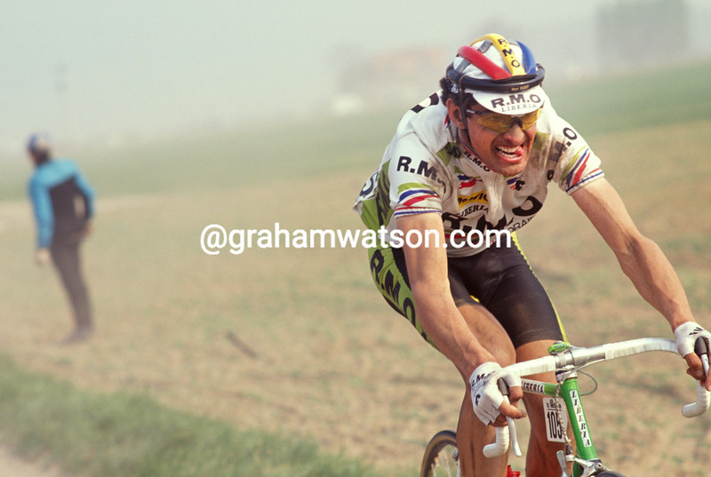 Marc Madiot in the 1991 Paris-Roubaix