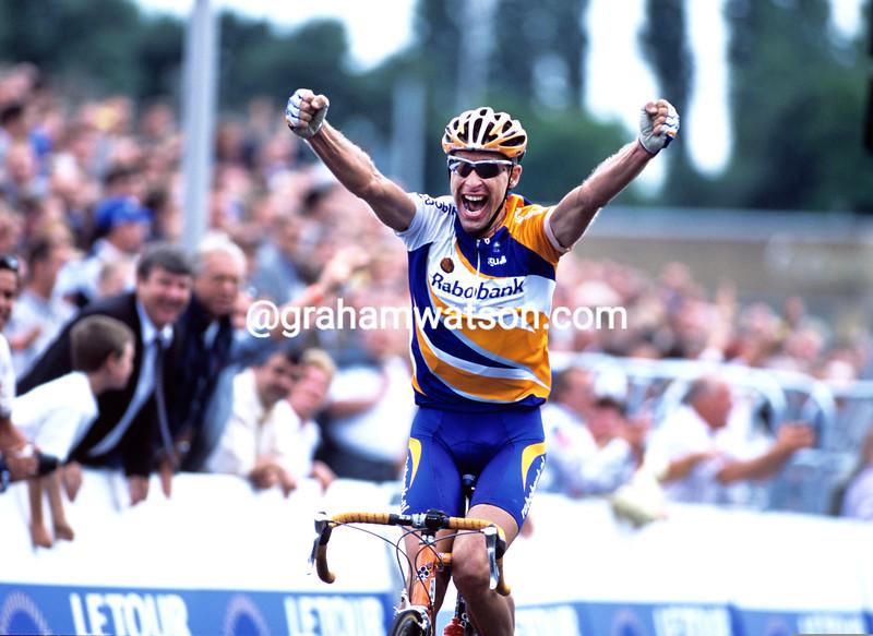 Marc Wauters wins a stage in the 2007 Tour de France