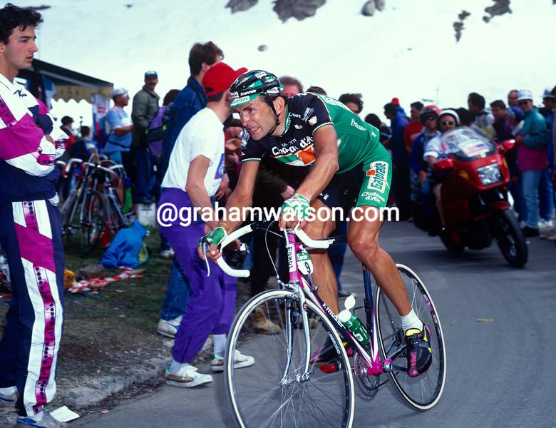 Marco Giovanetti in the 1991 Giro d'Italia