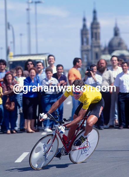 Marco Giovanetti in the 1990 Tour of Spain