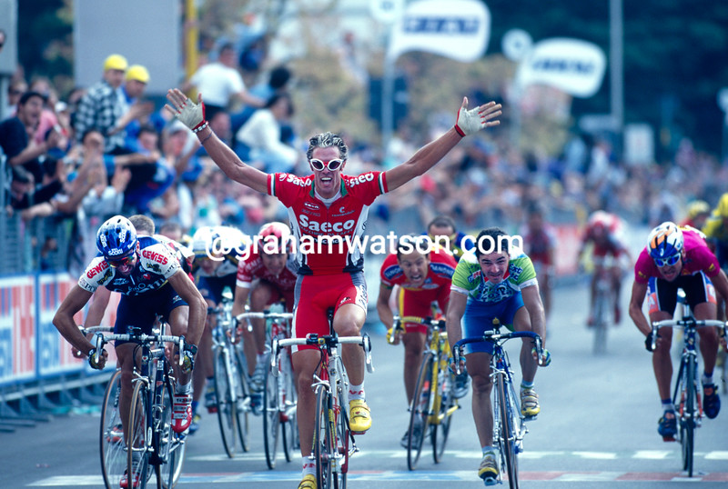 Mario Cipollini in the 1999 Giro d'Italia