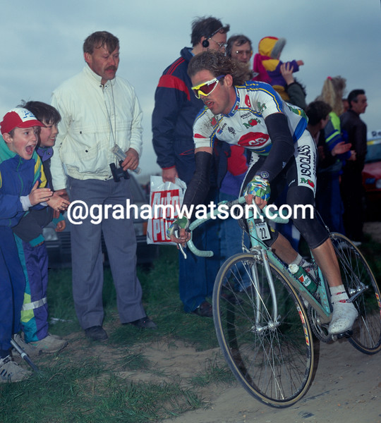 Mario Cipollini in the 1992 Paris-Roubaix
