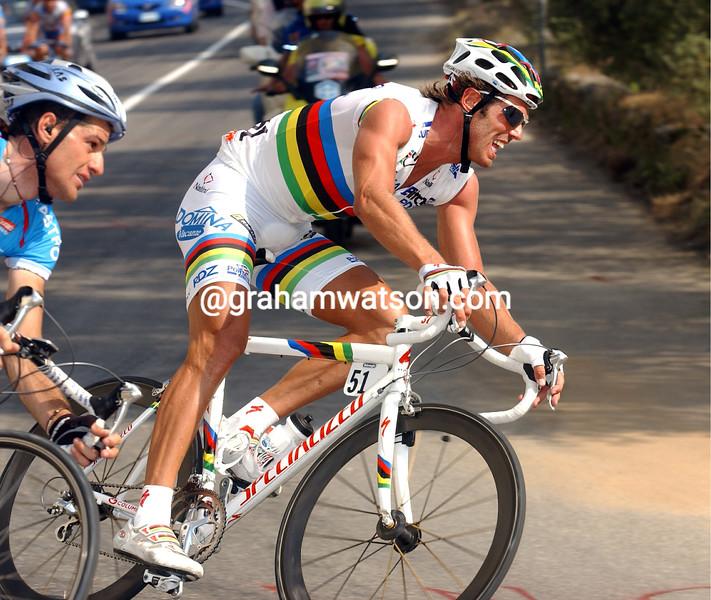 Mario Cipollini in the 2003 Giro d'Italia
