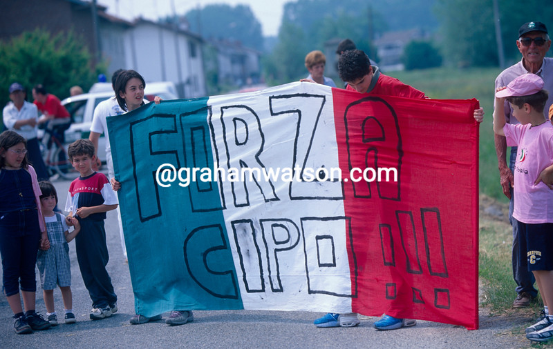 Mario Cipollini fans in the Giro d'Italia