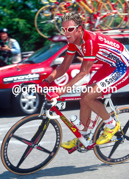 Mario Cipollini in the 2001 Giro d'Italia