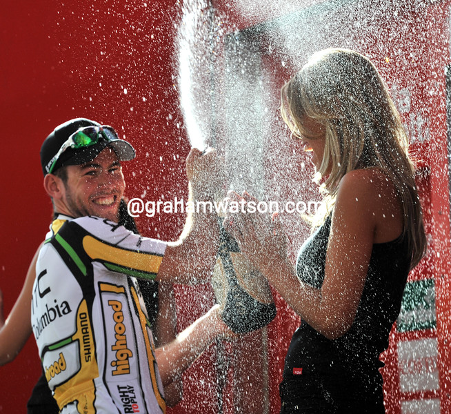 MARK CAVENDISH WINS STAGE THIRTEEN OF THE 2010 TOUR OF SPAIN