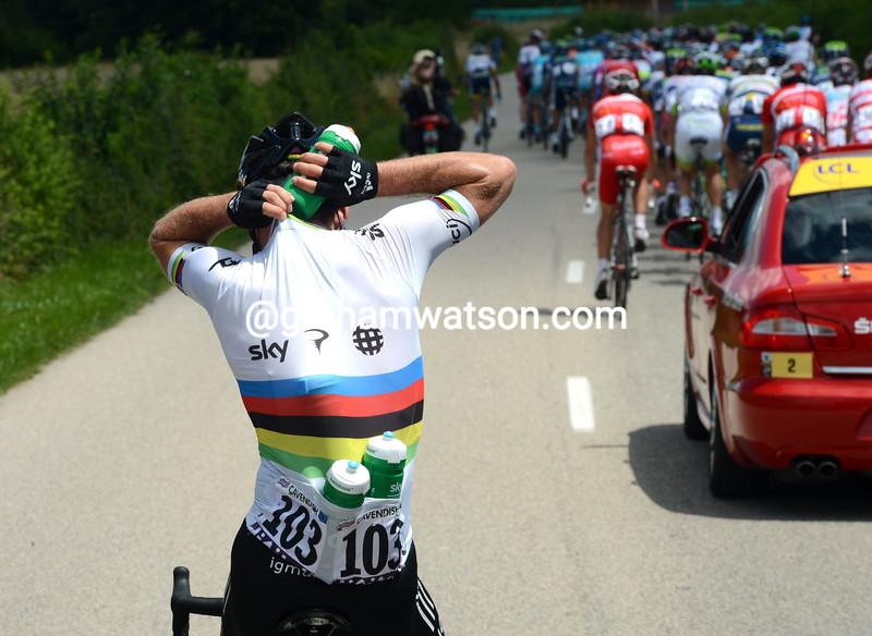 Mark Cavendish on stage ten of the 2012 Tour de France