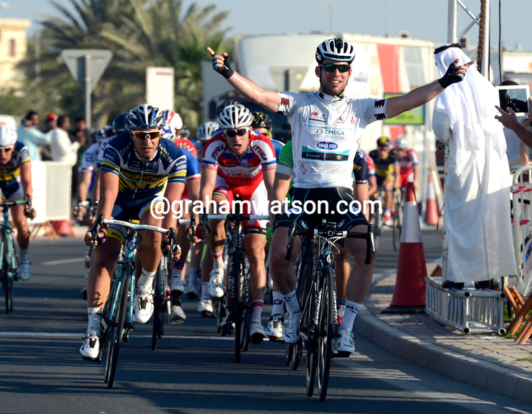 Mark Cavendish wins stage 4 of the 2013 Tour of Qatar