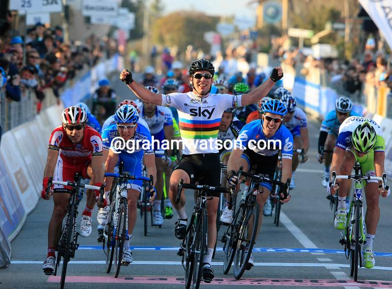 Mark Cavendish wins Stage 2 of the 2012 Tirreno-Adriatico