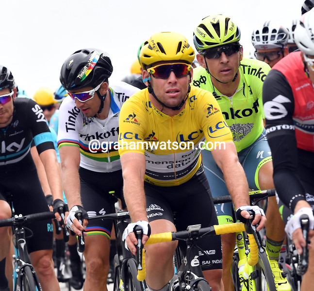 Mark Cavendish on stage 2 of the 2016 Tour de France