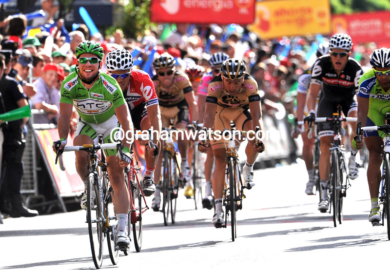 MARK CAVENDISH WINS STAGE THIRTEEN OF THE TOUR OF SPAIN