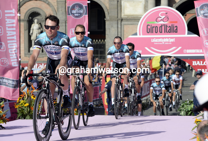 Mark Cavendish at the 2013 Giro d'Italia team presentation