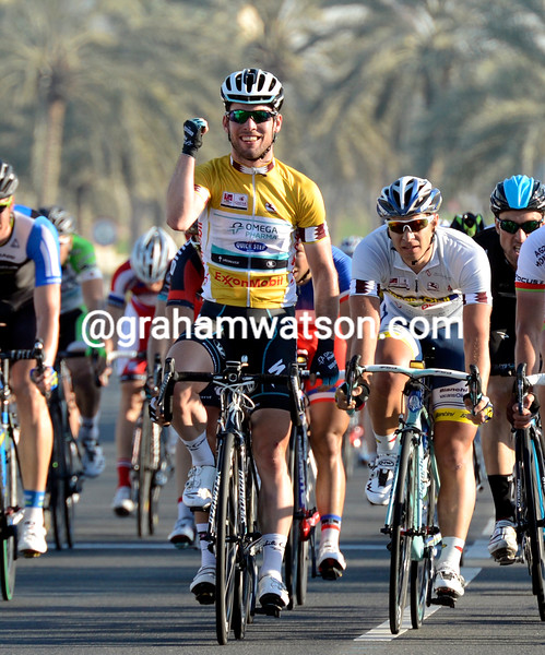 Mark Cavendish wins stage 6 of the 2013 Tour of Qatar