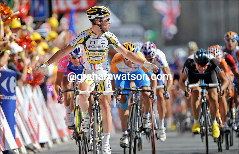 MARK CAVENDISH WINS STAGE EIGHTEEN OF THE 2010 TOUR DE FRANCE