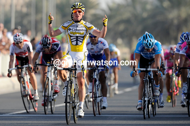 MARK CAVENDISH WINS STAGE SIX OF THE TOUR OF QATAR