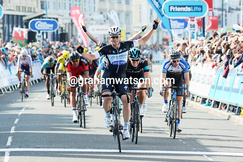 Mark Renshaw wins Stage 2 of the 2014 Tour of Britain