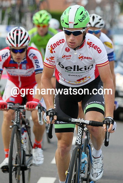 Mark Renshaw in the 2013 Eneco Tour leader's jersey