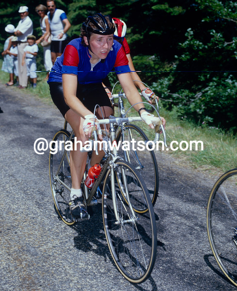 Margaret Swinnerton-Earley in the 1984 Tour de France