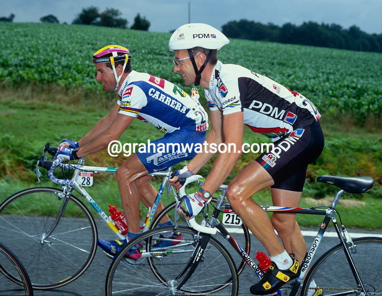 Stephen Roche and Martin Earley in the 1992 Tour de France