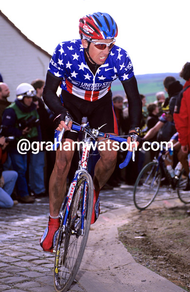 Marty Jemison in the 1998 Tour of Flanders