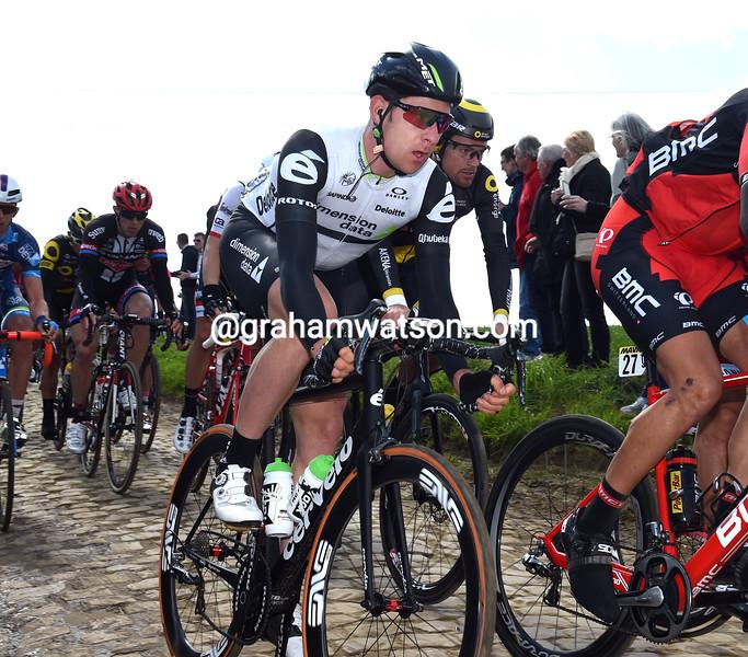 Matt Brammeier in the 2016 Paris-Roubaix