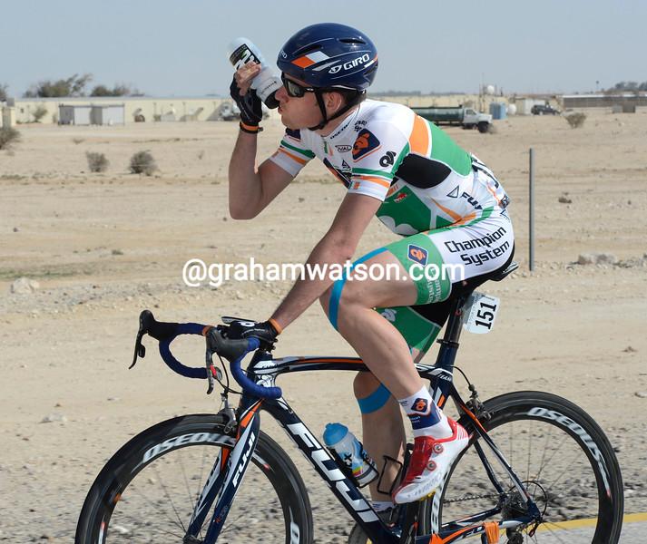 Matt Brammeier on stage 1 of the 2013 Tour of Qatar