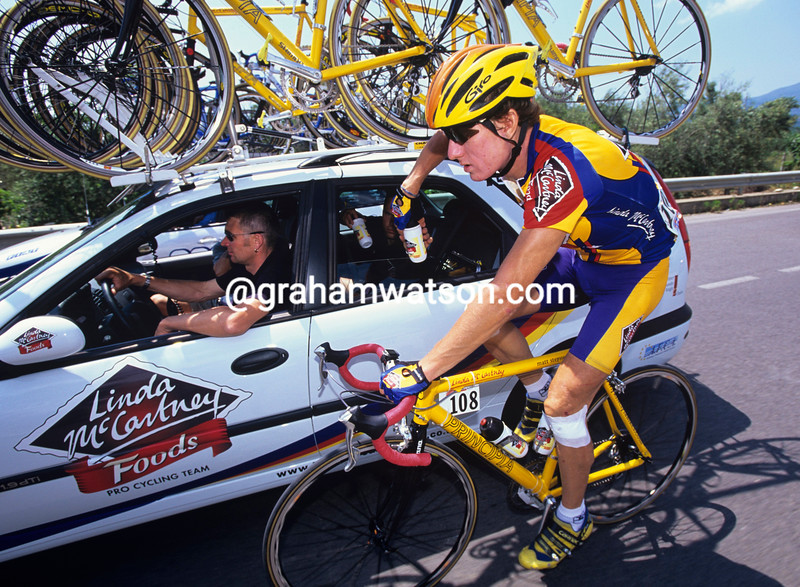 Matt Stephens in the Giro d'Italia
